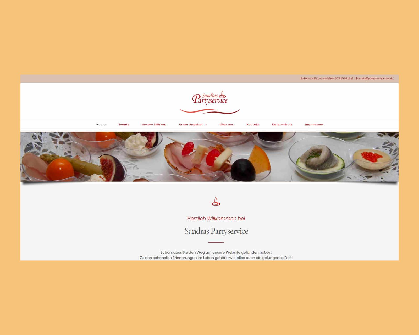Website www.partyservice-stier.de